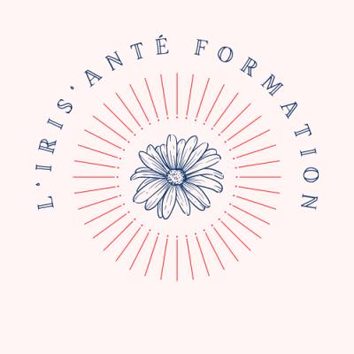 Beige fleur superminimalisme courbe texte logo 3